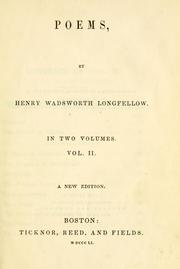 Cover of: Poems | Henry Wadsworth Longfellow