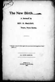 Cover of: The new birth