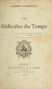 Cover of: Les ridicules du temps