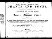 Cover of: Chants and tunes | Church of England in Canada. Diocese of Toronto.
