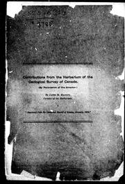 Cover of: Contributions from the herbarium of the Geological Survey of Canada | James M. Macoun