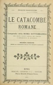 Cover of: Le catacombe romane