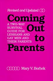 Coming out to parents by Mary V. Borhek
