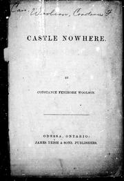 Cover of: Castle nowhere | Constance Fenimore Woolson