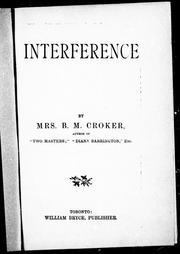 Cover of: Interference | B. M. Croker