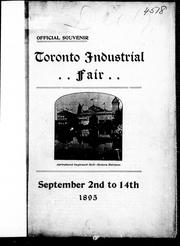 Cover of: Toronto industrial fair | Canadian National Exhibition (1895 Toronto, Ont.)