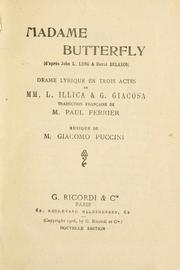Cover of: Madame Butterfly | Giacomo Puccini