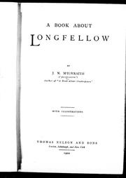 Cover of: A book about Longfellow | Jean N. McIlwraith