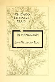Cover of: In memoriam, John Wellborn Root |