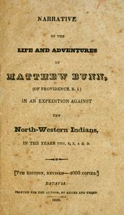 Cover of: Narrative of the life and adventures of Matthew Bunn ... | Matthew Bunn