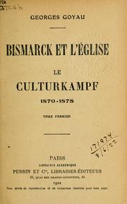 Cover of: Bismarck et l'église