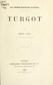 Cover of: Turgot. | Léon Say