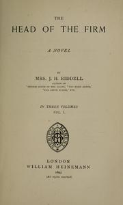 Cover of: The head of the firm | Mrs. J. H. Riddell