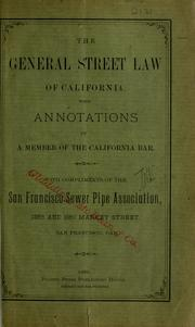 general street law of California
