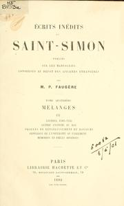 Cover of: Écrits inédits