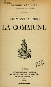 Cover of: Comment a péri la Commune