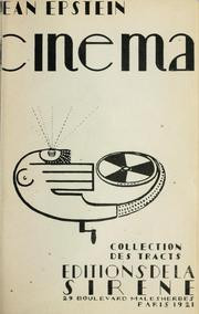 Cover of: Cinéma | Jean Epstein