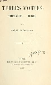 Cover of: Terres mortes | André Chevrillon