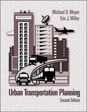 Cover of: Urban transportation planning | Michael D. Meyer