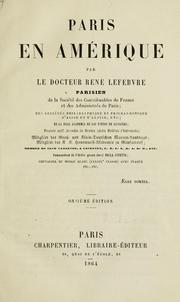 Cover of: Paris en Amérique