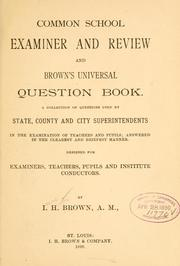 Cover of: Common school examiner and review and Brown