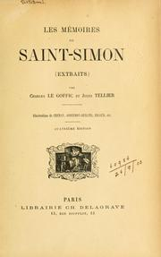 Cover of: Les mémoires | Saint-Simon, Louis de Rouvroy duc de