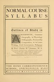 Cover of: Normal course syllabus | Charles H. Clemmer