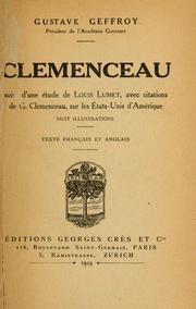 Cover of: Clemenceau