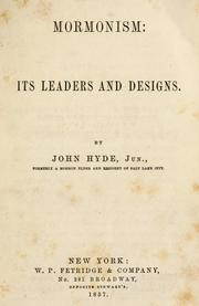 Cover of: Mormonism | Hyde, John