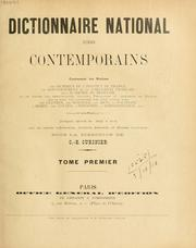 Cover of: Dictionnaire national des contemporains