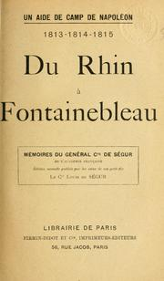 Cover of: Un aide de camp de Napoléon