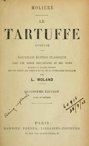 Cover of: Le Tartuffe by Molière