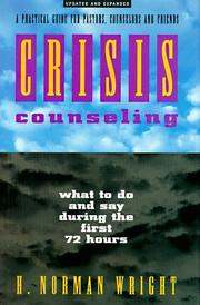 Cover of: Crisis counseling