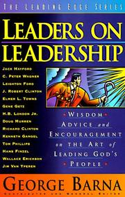 Cover of: Leaders on Leadership