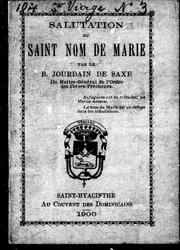 Salutation du Saint Nom de Marie by Jourdain de Saxe