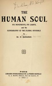 Cover of: The human soul | H. Baraduc