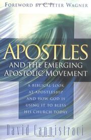 Cover of: Apostles and the emerging apostolic movement | David Cannistraci