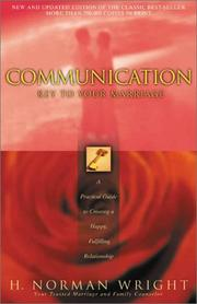 Cover of: Communication: Key to Your Marriage