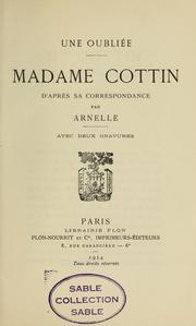Cover of: Une oubliée