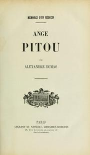 Cover of: Ange Pitou