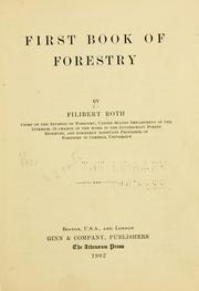 Cover of: First book of forestry