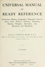 Cover of: Universal manual of ready reference | Ruoff, Henry W.