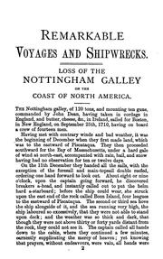Cover of: Remarkable voyages & shipwrecks | George Winslow Barrington