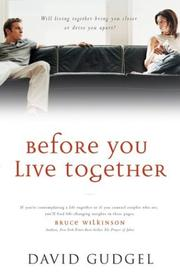 Cover of: Before You Live Together | David R. Gudgel