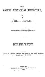 Cover of: The modern vernacular of Hindustan | George Abraham Grierson