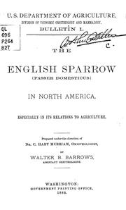 Cover of: The English sparrow (Passer domesticus) in North America | Walter Bradford Barrows