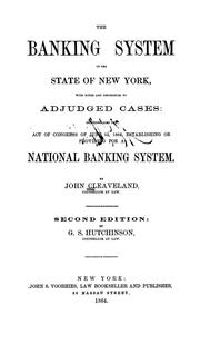 Cover of: The banking system of the state of New York | John Cleaveland