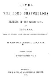 Cover of: Lives of the lord chancellors and keepers of the great seal of England
