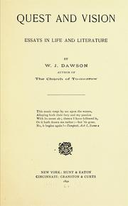 Cover of: Quest and vision | William James Dawson (poet)