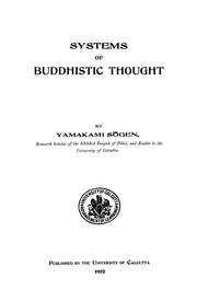 Cover of: Systems of Buddhistic thought